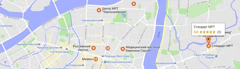 Центры МРТ в СПб